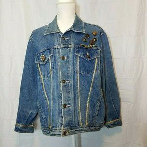 Bon Jour Upcycled Jean Jacket Womens M